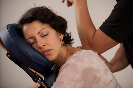 The core of Wellness Program is the 10-15 minute upper-body focused chair massage