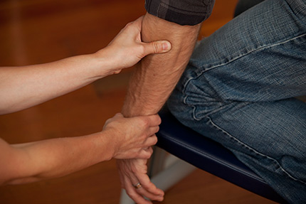 The Wellness Program's core component is a 10-15 minute , upper body focused chair massage