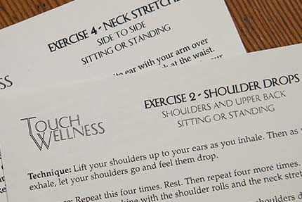 Stretch Education Cards for clients to refer to during the week